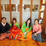 Photo taken with House's Mother, during wearing Korean suit