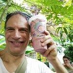 Big yummy raspberry banana yogurt honey drink