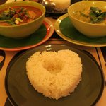 yummy green curry and tom yum