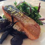 Baked king salmon