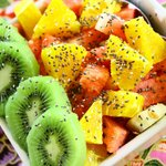 Fresh tropical fruit salad