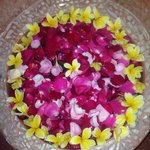 Flower filled bath