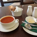 Great soup lunch at the Wee Coffee Shop in Blairgowrie...