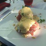 Eggs Benedict at Bure Lodge B&B