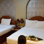 Big generous  beds in delux room