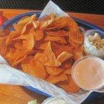 crisp buffalo chips, Wild Wing Cafe, Bower Parkway, Columbia, SC Nov 2014