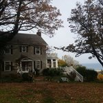 Side of house - on top of hill overlooking forest & ocean