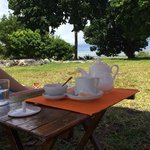 Relaxing n taking tea