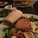 Salmon Cobb & Burger
