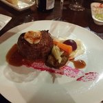 Beef fillet and gowt cheese