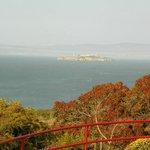Vista da Alcatraz da Golden Gate
