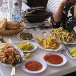 Seafood plater & fried calamari