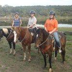 3 Swedes on horseback in Texas