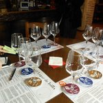 Choice of wines for tasting