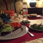 the entree at the Riad