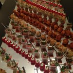 Appetizers at our in-suite dinner