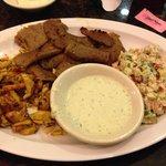 Combination plate with Jerusalem salad!