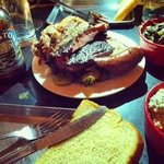 meat feast ( brisket,pulled pork,turkey,sausage and ribs)