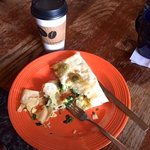 Coffee and veggie crepe