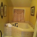 Bath tub in bedroom