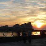 Sunset at thr boardwalk