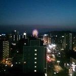 ホテルから鹿児島中央駅方向