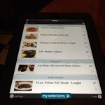 Tablets to review menu