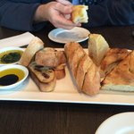 A fine Trio of breads - starter for two.