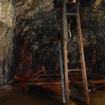 abandoned ladder in caves