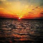 sunset in lake karoun