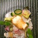 Ceviche van zeebaars met langoustine