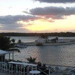 Sunset outside our Villa back deck - Bay side