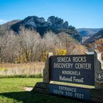 Seneca Rocks from visitor center