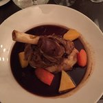 Lamb shank, perfctly cooked with an amazing sauce!