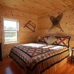 Bedroom inside the Mallard Cottage