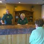 Steve and Gina helping customers