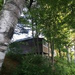 View from below the Ridge looking at the Pinecone Cottage