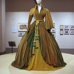 The green curtain dress