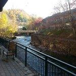View of creek near parking
