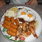 Steak & Eggs with Langostinos