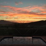 Sunset from the pool