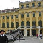 Palacio de Schonbrunn, na rua do hotel