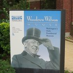 Woodrow Wilson's House is well marked