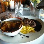 Excellent steak and scalloped potatoes