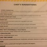 chef's suggestions