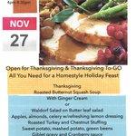 Thanksgiving Dinner in Walnut Creek