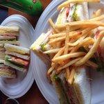 The BCM Club sandwich & Fries. YUMMY!