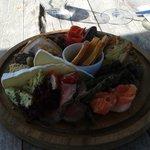 The delicious mezze platter