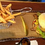 Bacon Burger with Basket Of Fries