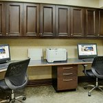 Work stations in the business center